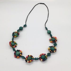 """Wooden beads on string with 15"""" drop, 30"""" …"""